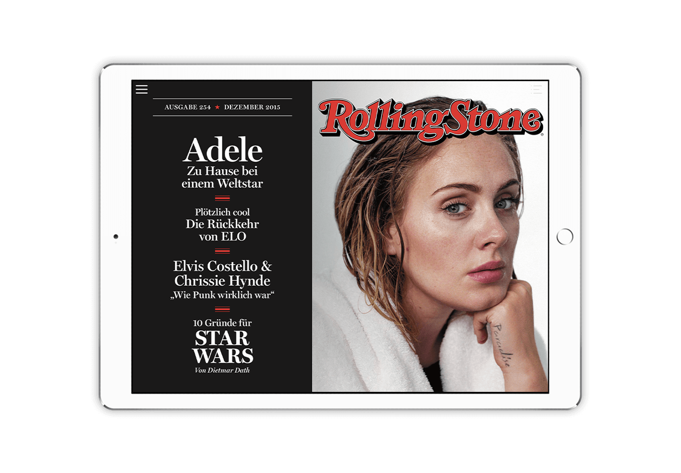 Screenshot of Rolling Stone project